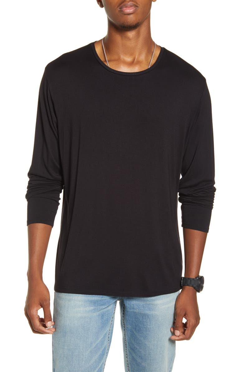 BP. x Alex Costa Long Sleeve Stretch T-Shirt, Main, color, 001