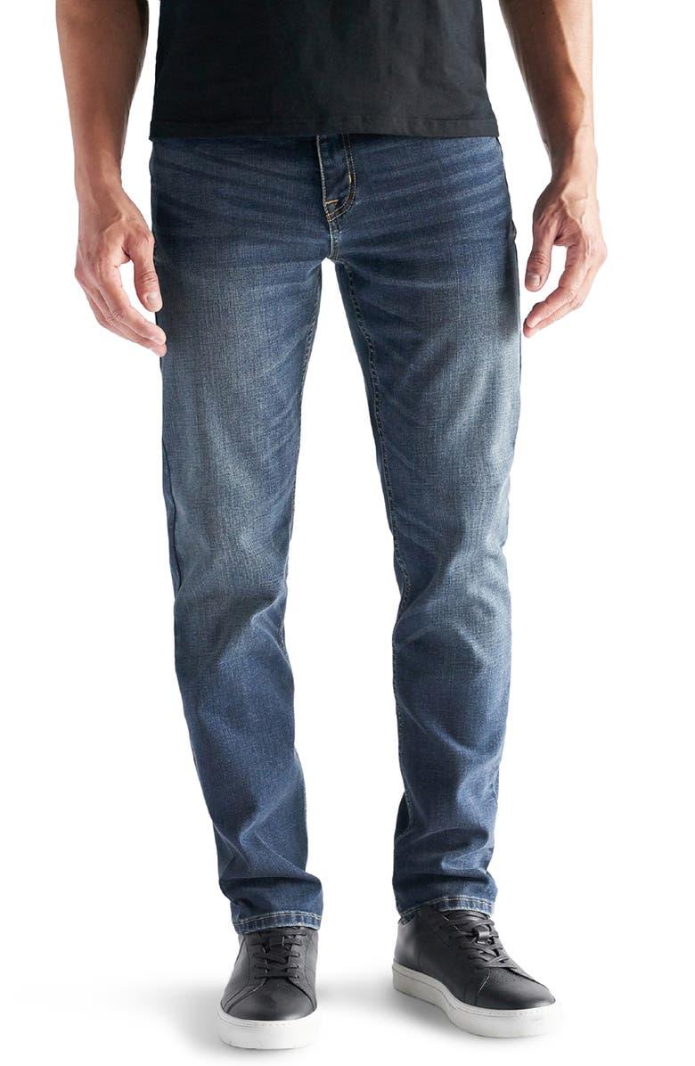 DEVIL-DOG DUNGAREES Athletic Fit Performance Stretch Jeans, Main, color, BURKE