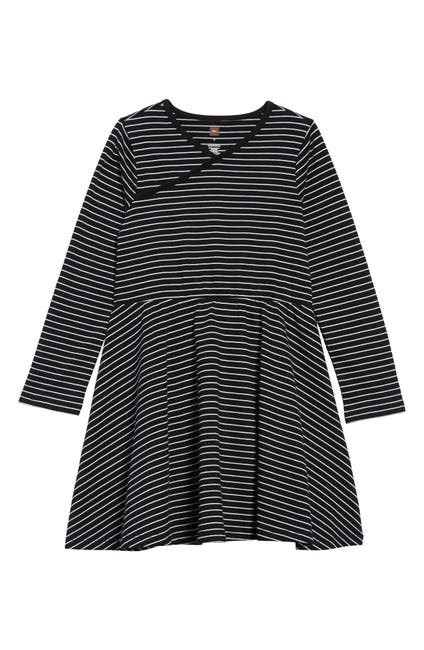 Image of Tea Collection Full Skirt Wrap Neck Dress