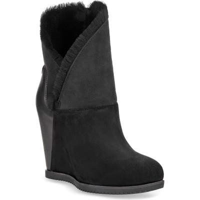 UGG Classic Mondri Cuff Wedge Boot, Black