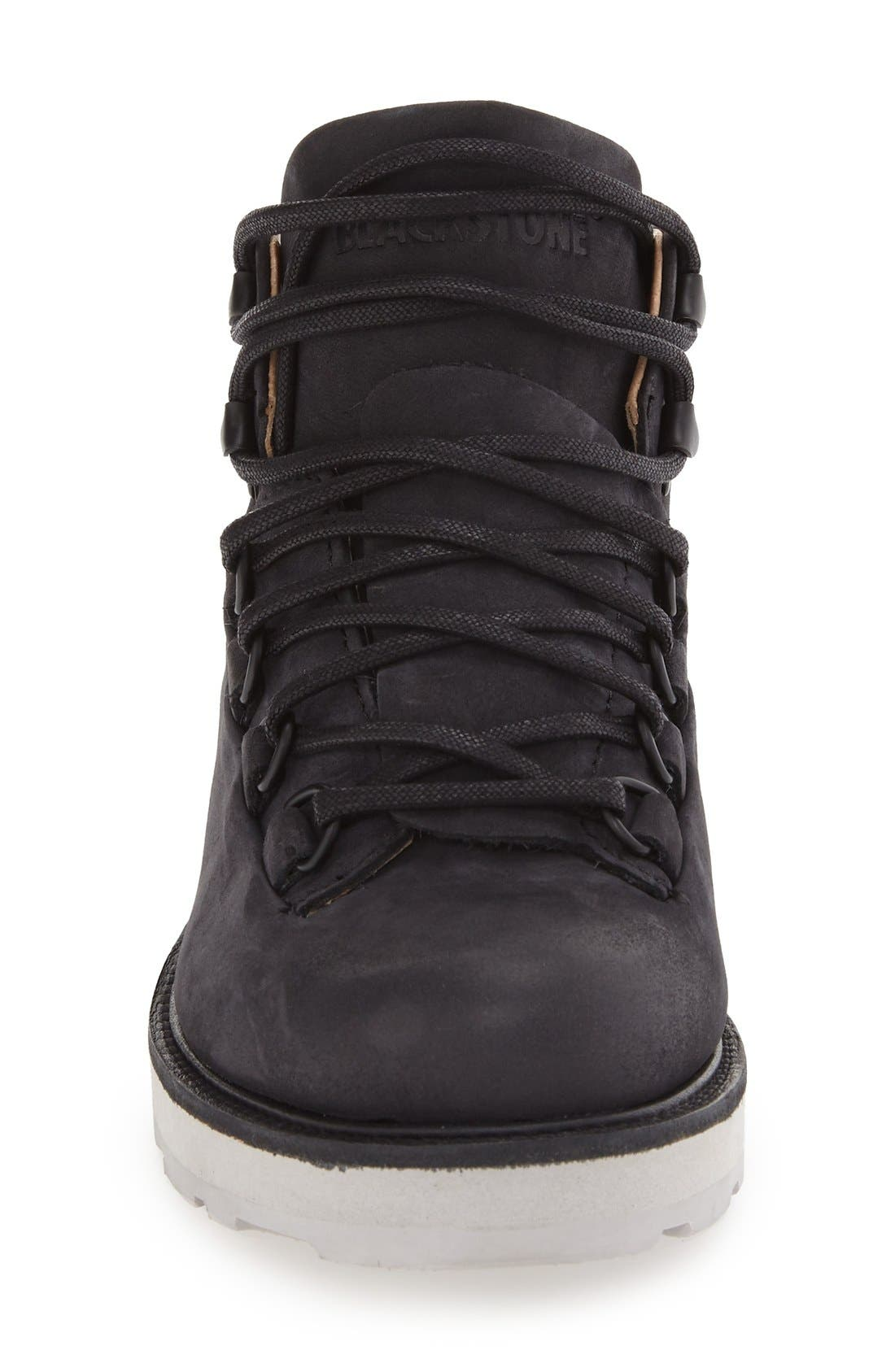 ,                             'MW76' Water Resistant Boot,                             Alternate thumbnail 3, color,                             BLACK NUBUCK LEATHER