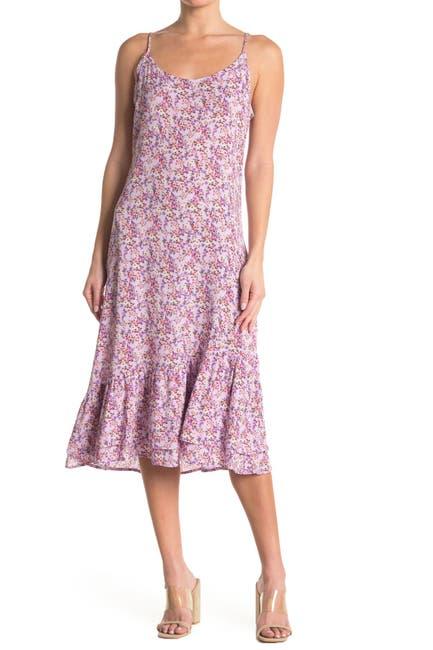 Image of Velvet Torch Double Tier Midi Slip Dress