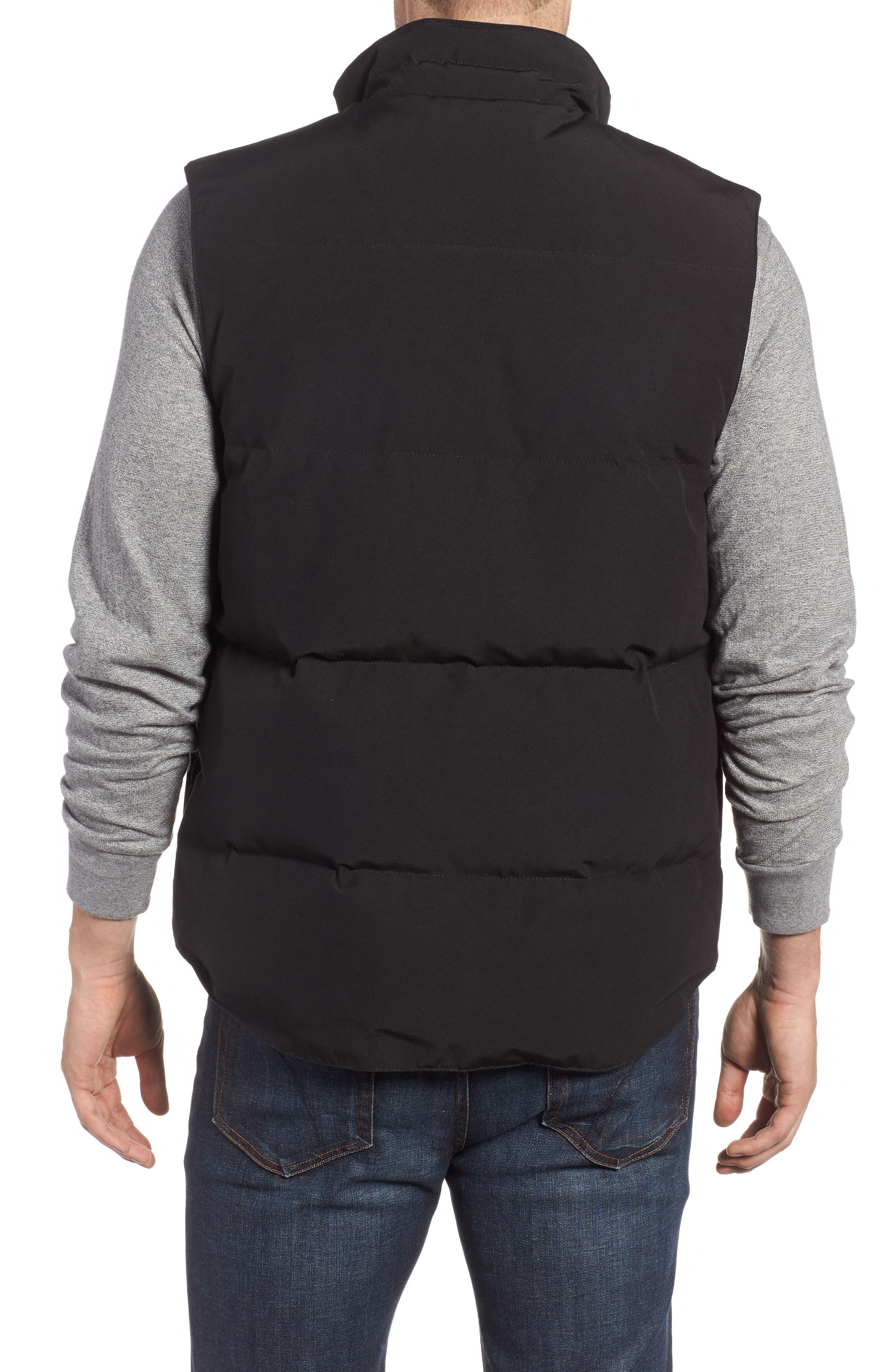 ,                             Garson Regular Fit Quilted Down Vest,                             Alternate thumbnail 2, color,                             BLACK