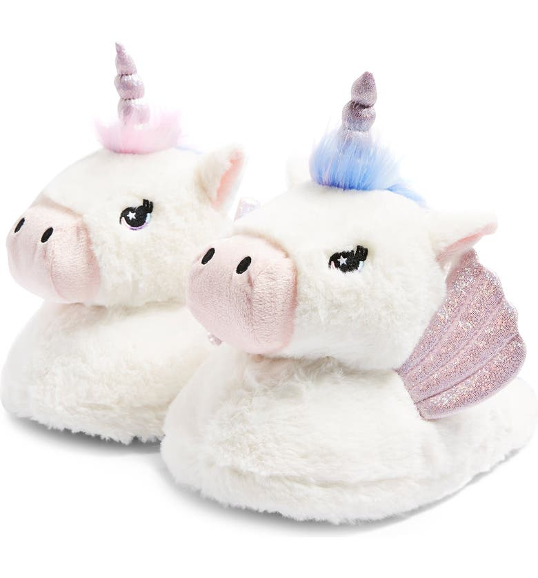 TOPSHOP Unicorn Mule Slippers, Main, color, IVORY MULTI