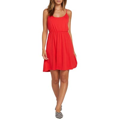 Plus Size Volcom Le Fresh Cutout Minidress, Red