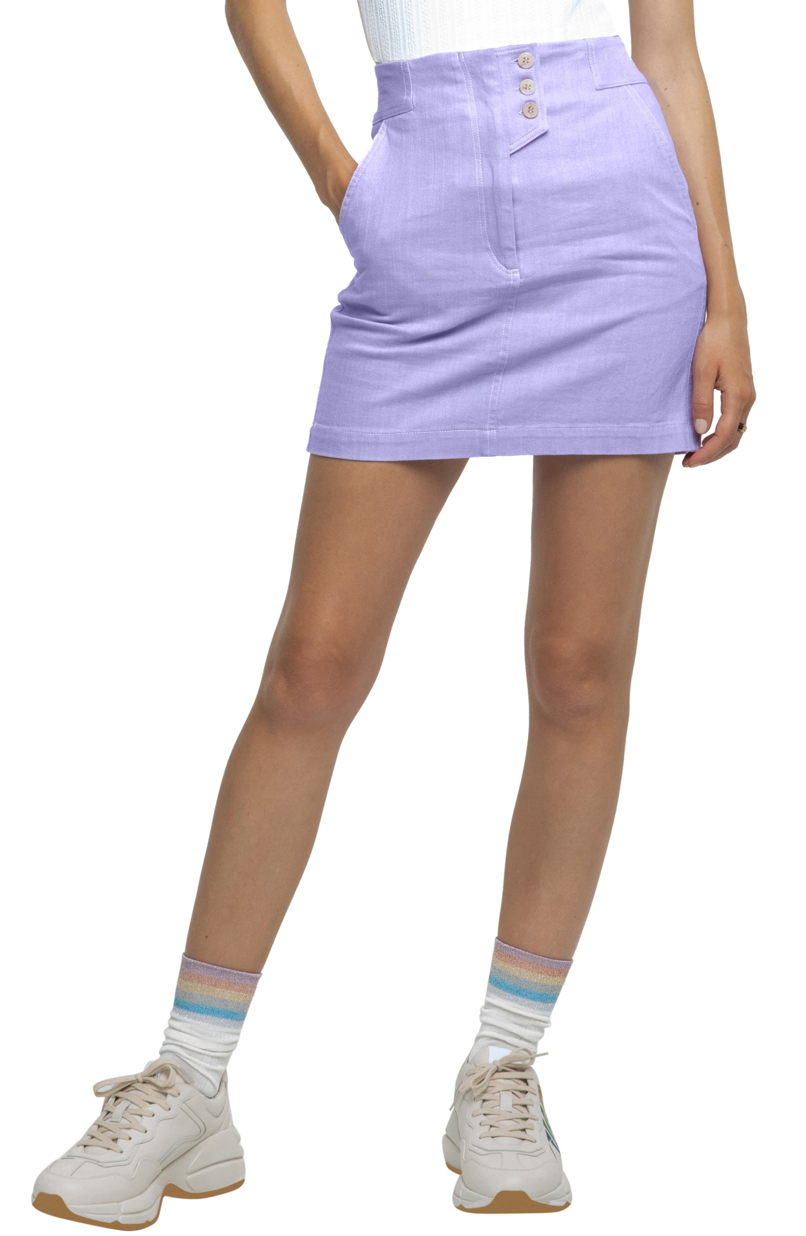 Astr The Label Wallace Miniskirt, Purple