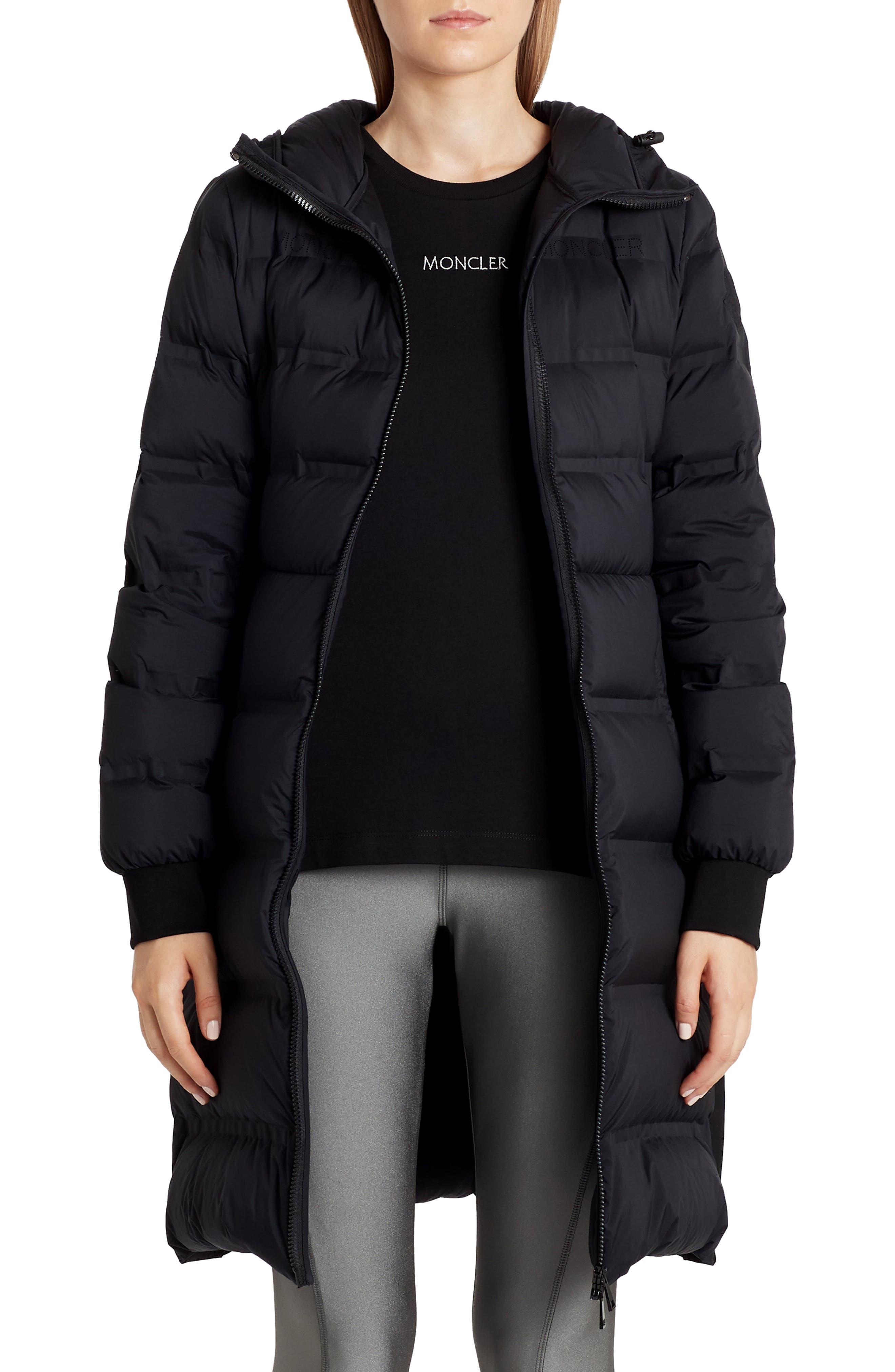 Women's Moncler Sceptrum Long Hooded Puffer Coat