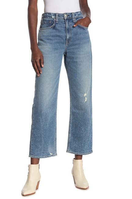 Image of Rag & Bone Maya High Rise Cropped Straight Jeans