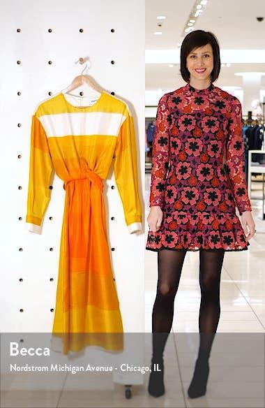 Magnolia Long Sleeve Silk Twill Dress, sales video thumbnail