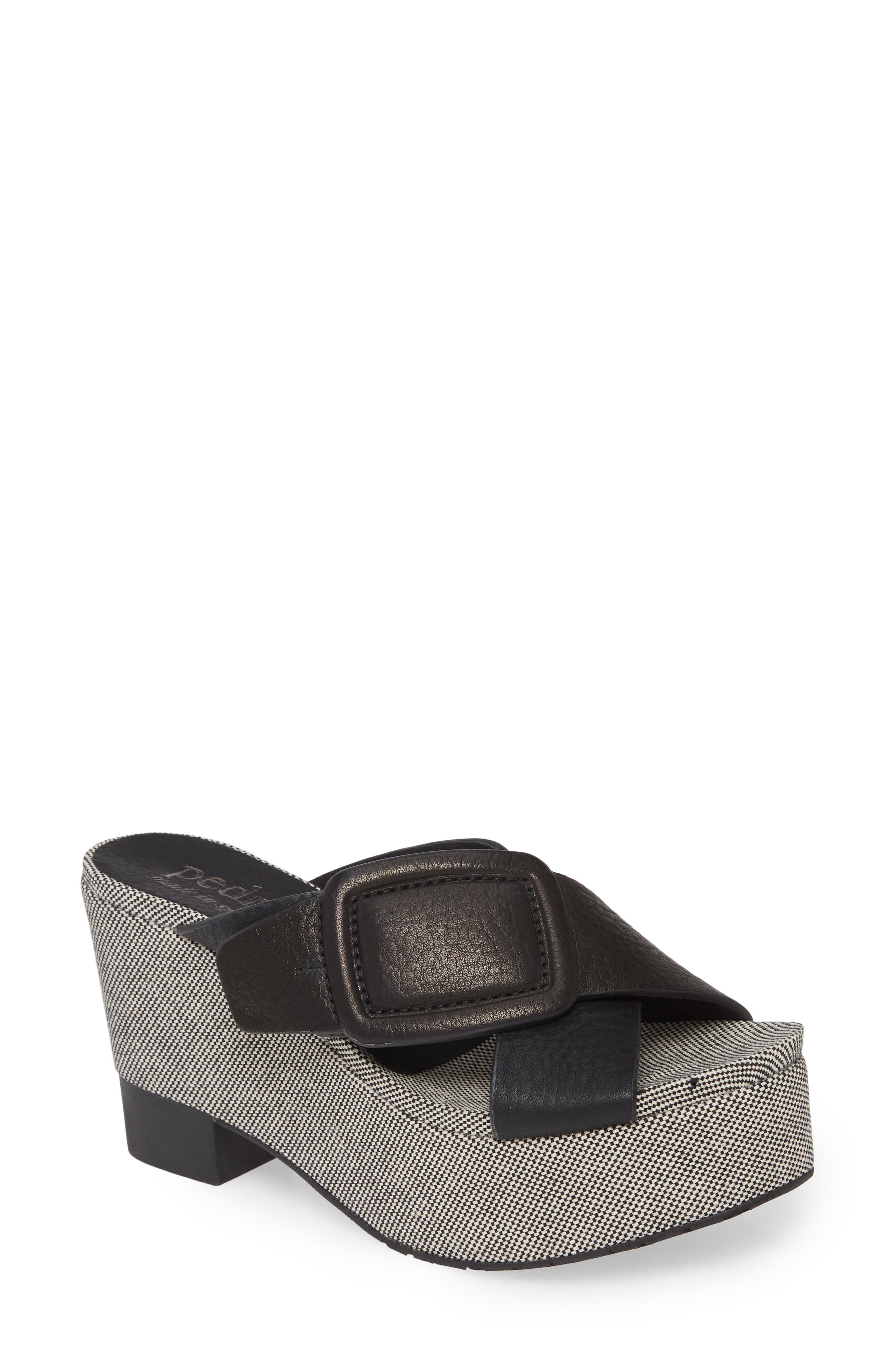 Take on \'90s trends with this lofty platform sandal that boasts wide leather straps and a textured wedge heel. Style Name: Pedro Garcia Donata Platform Sandal (Women). Style Number: 5967887. Available in stores.