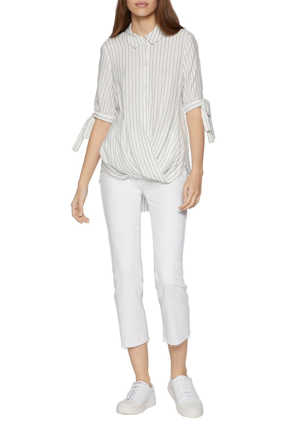 Image of BCBGeneration Wrap Hem Stripe Shirt