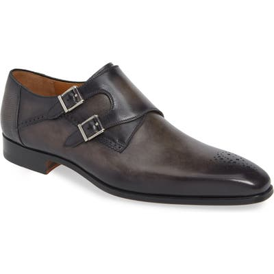 Magnanni Derek Double Monk Strap Shoe- Grey
