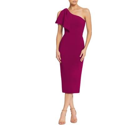 Dress The Population Tiffany One-Shoulder Midi Dress, Pink
