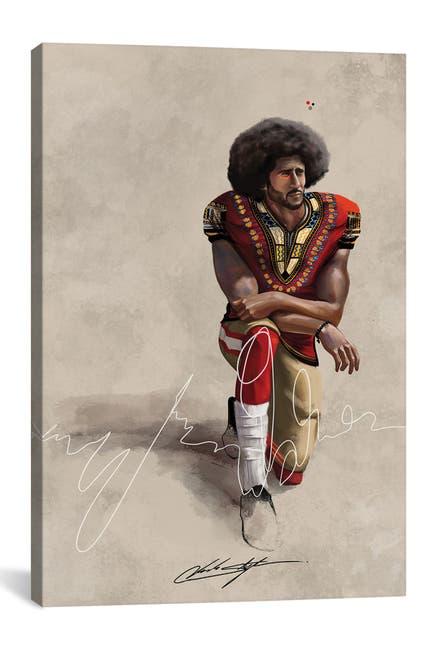Image of iCanvas BHM Kaepernick by Chuck Styles