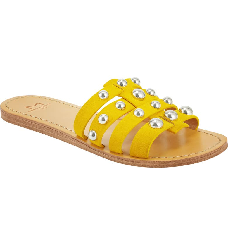 MARC FISHER LTD Pava Slide Sandal, Main, color, YELLOW SUEDE