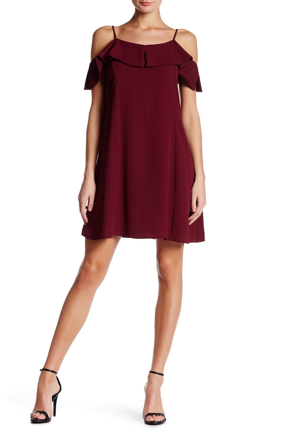Image of dee elly Cold Shoulder Shift Dress