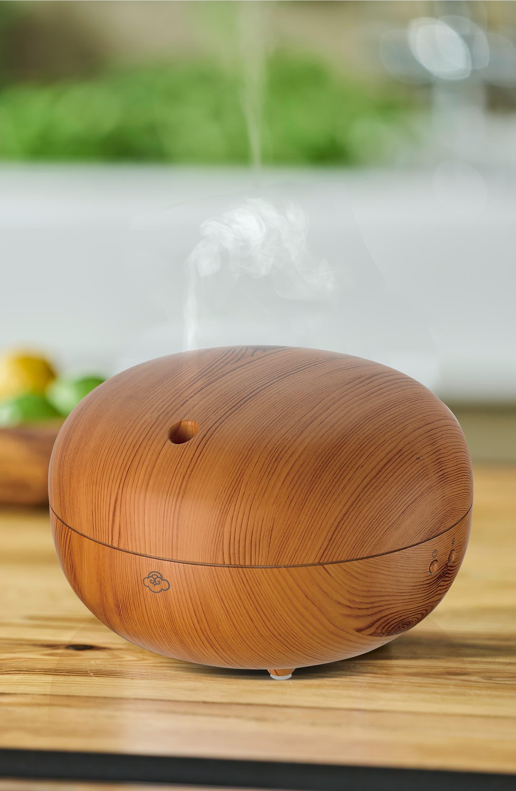 SERENE HOUSE Ultrasonic Cool Mist Macaron Aromatherapy Diffuser, Alternate, color, LIGHT WOOD