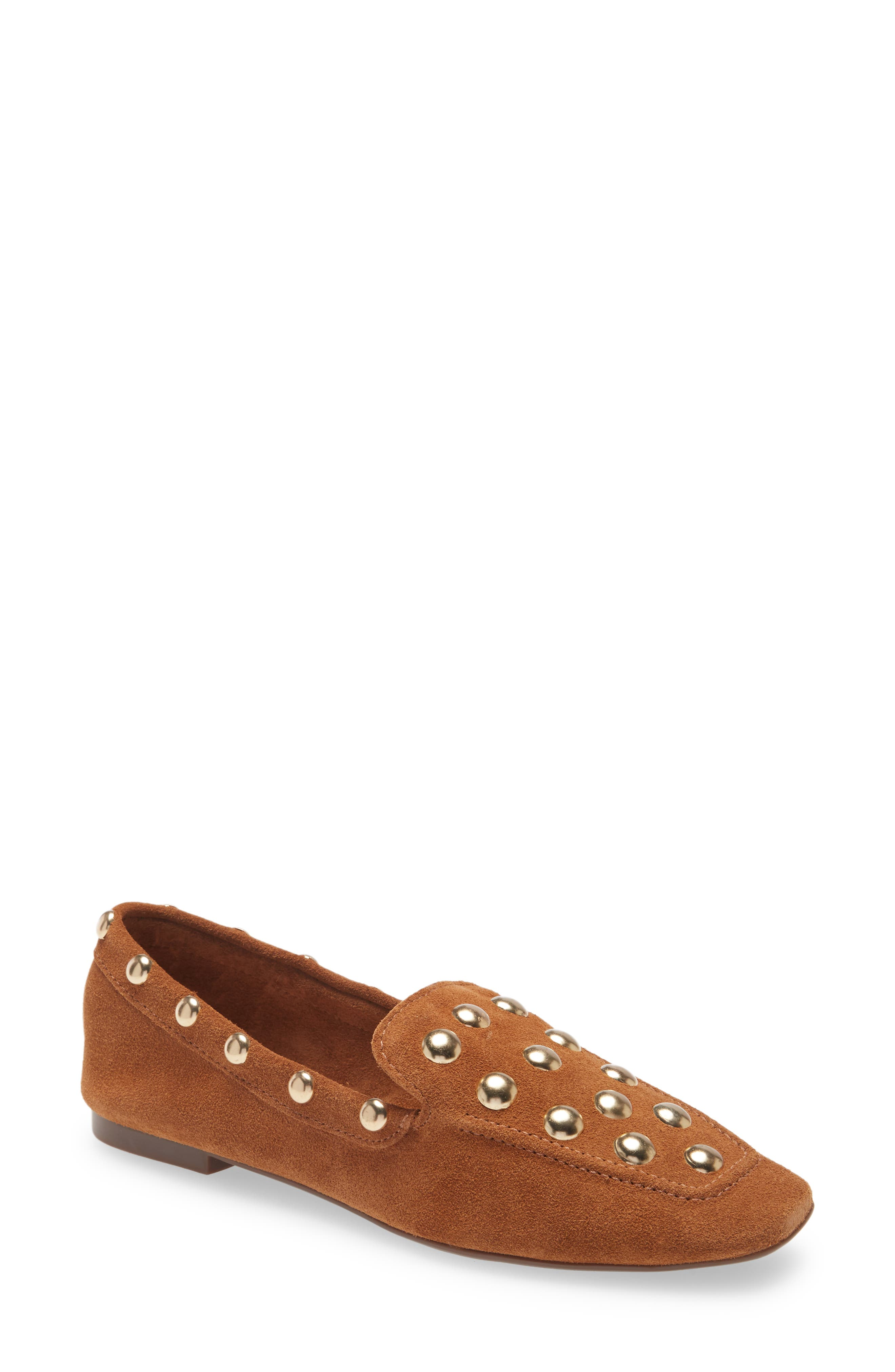 Gleaming studs bring a touch of just-right edge to a chic loafer that\\\'s a sophisticated option for your work-to-weekend wardrobe. Style Name: Schutz Laurie Studded Loafer (Women). Style Number: 6096499. Available in stores.