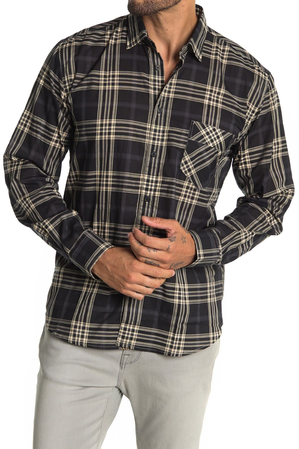 Image of Billy Reid John T Plaid Shirt