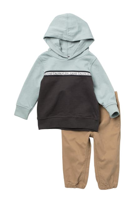 Image of Calvin Klein Hooded Pullover & Pants Set