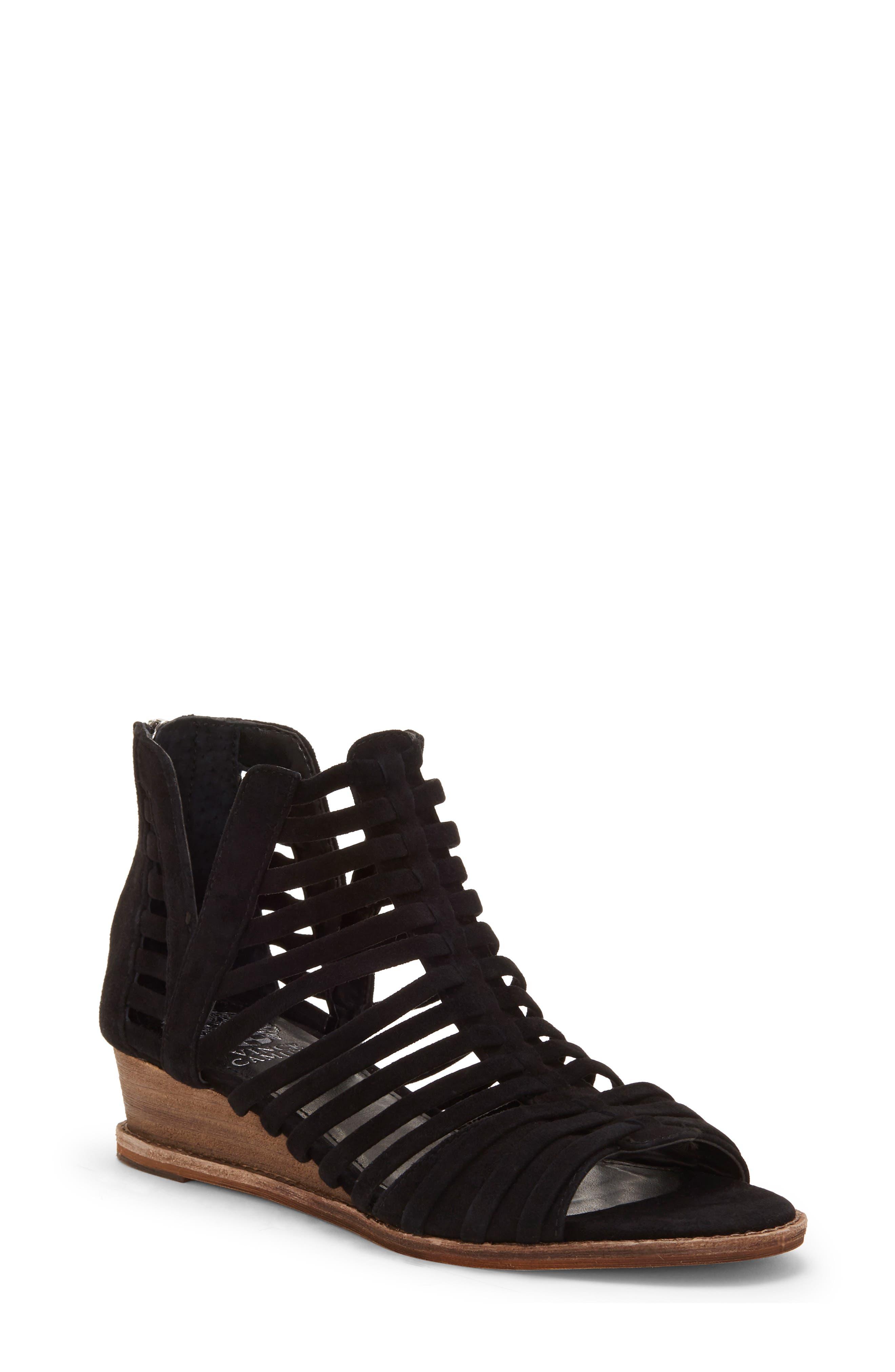Vince Camuto Revey Wedge Sandal- Black