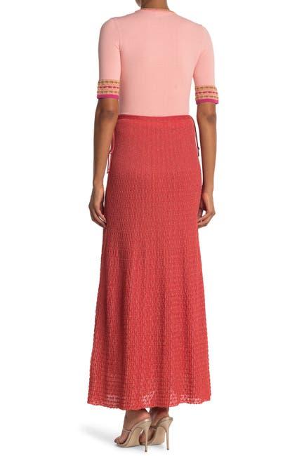 Image of M Missoni Ribbed Knit Maxi Skirt
