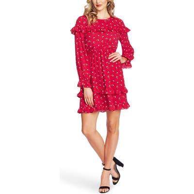 Cece Wildflower Fling Long Sleeve Ruffle Dress