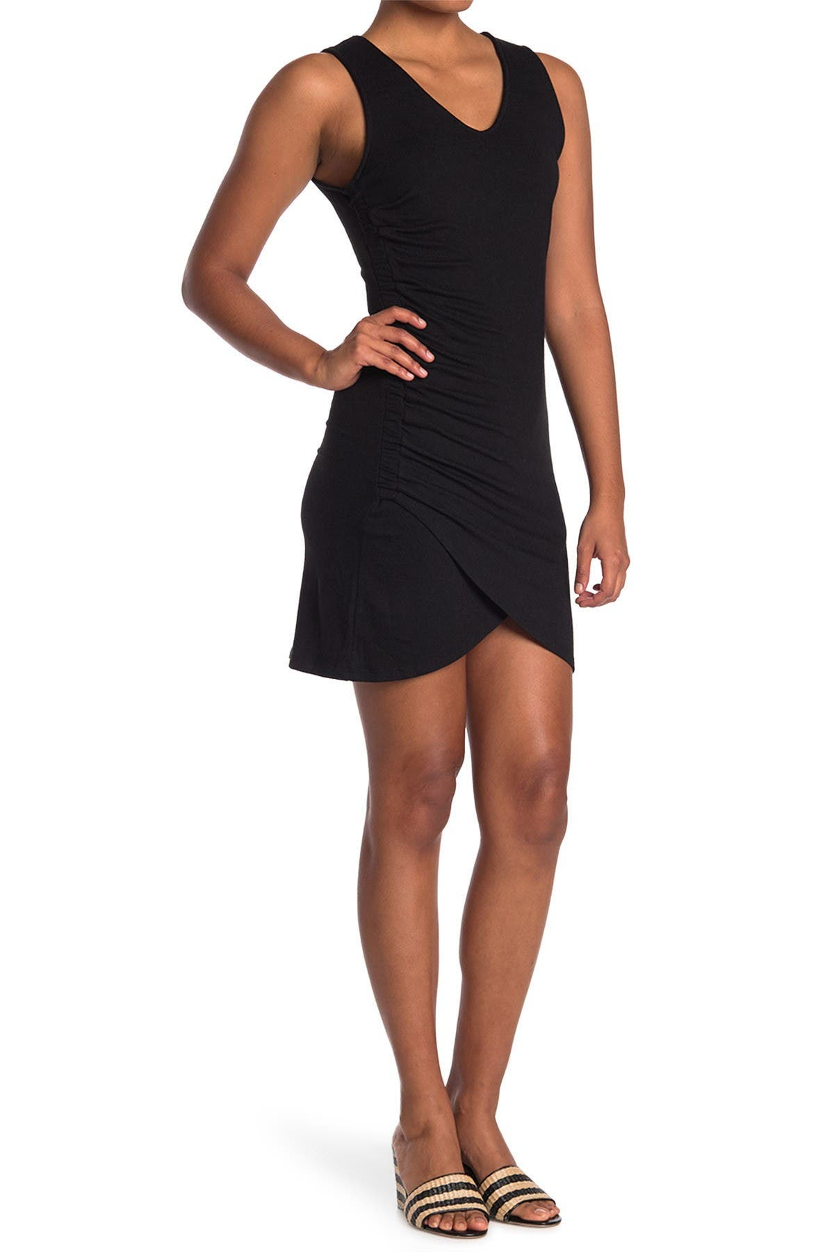 Image of 14TH PLACE Side Ruched Tank Dress