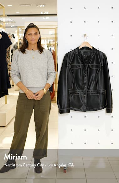 Faux Leather Shirt Jacket, sales video thumbnail