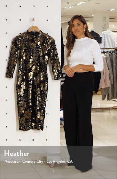 Nadia Metallic Lace Cocktail Dress, sales video thumbnail