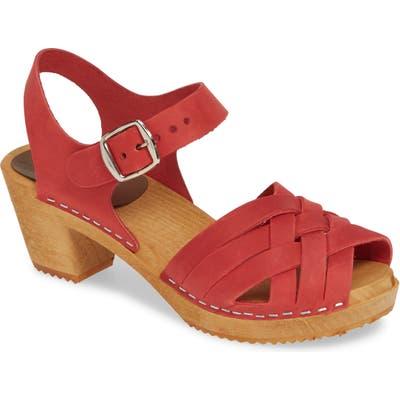 Mia Bety Clog Sandal, Red