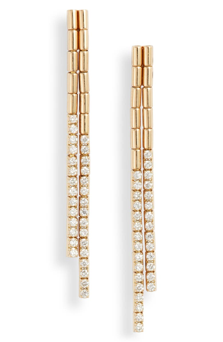 BONY LEVY Sherr Diamond Drop Link Earrings, Main, color, YELLOW GOLD/ DIAMOND