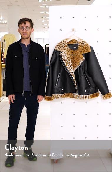 Oversize Faux Shearling Moto Jacket, sales video thumbnail