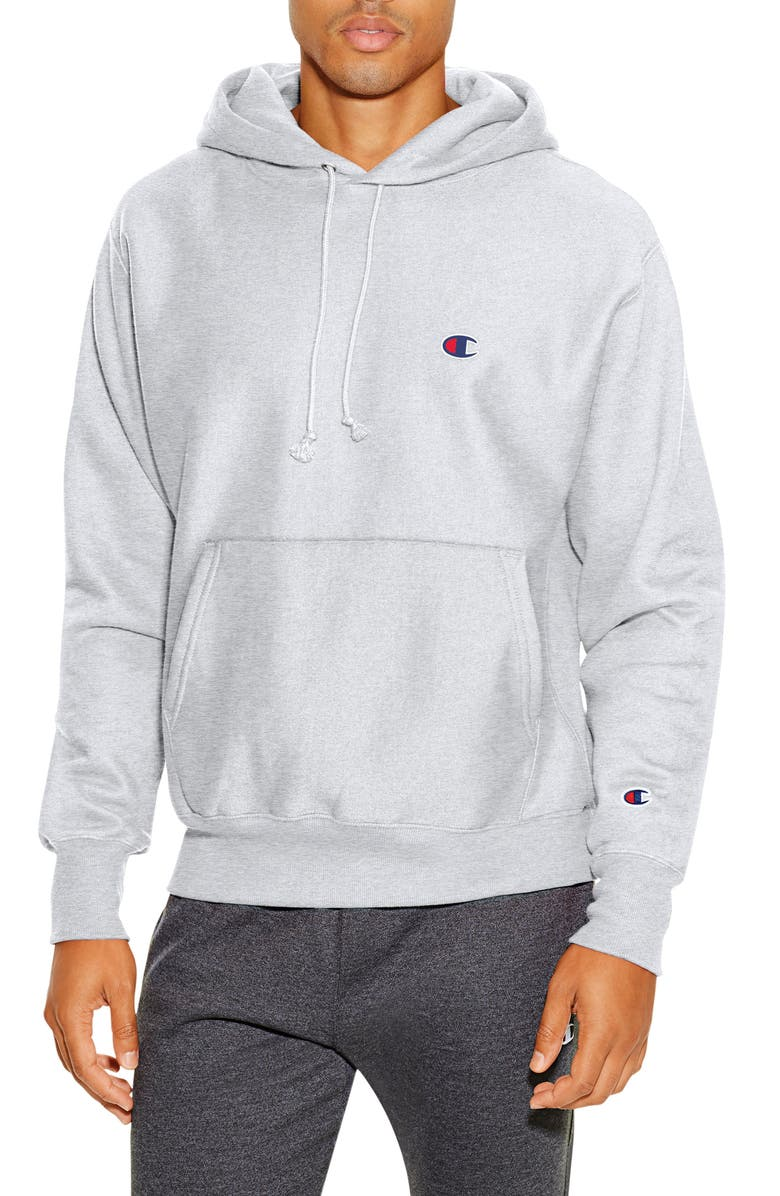 CHAMPION Reverse Weave<sup>®</sup> Pullover Hoodie, Main, color, SILVER GREY