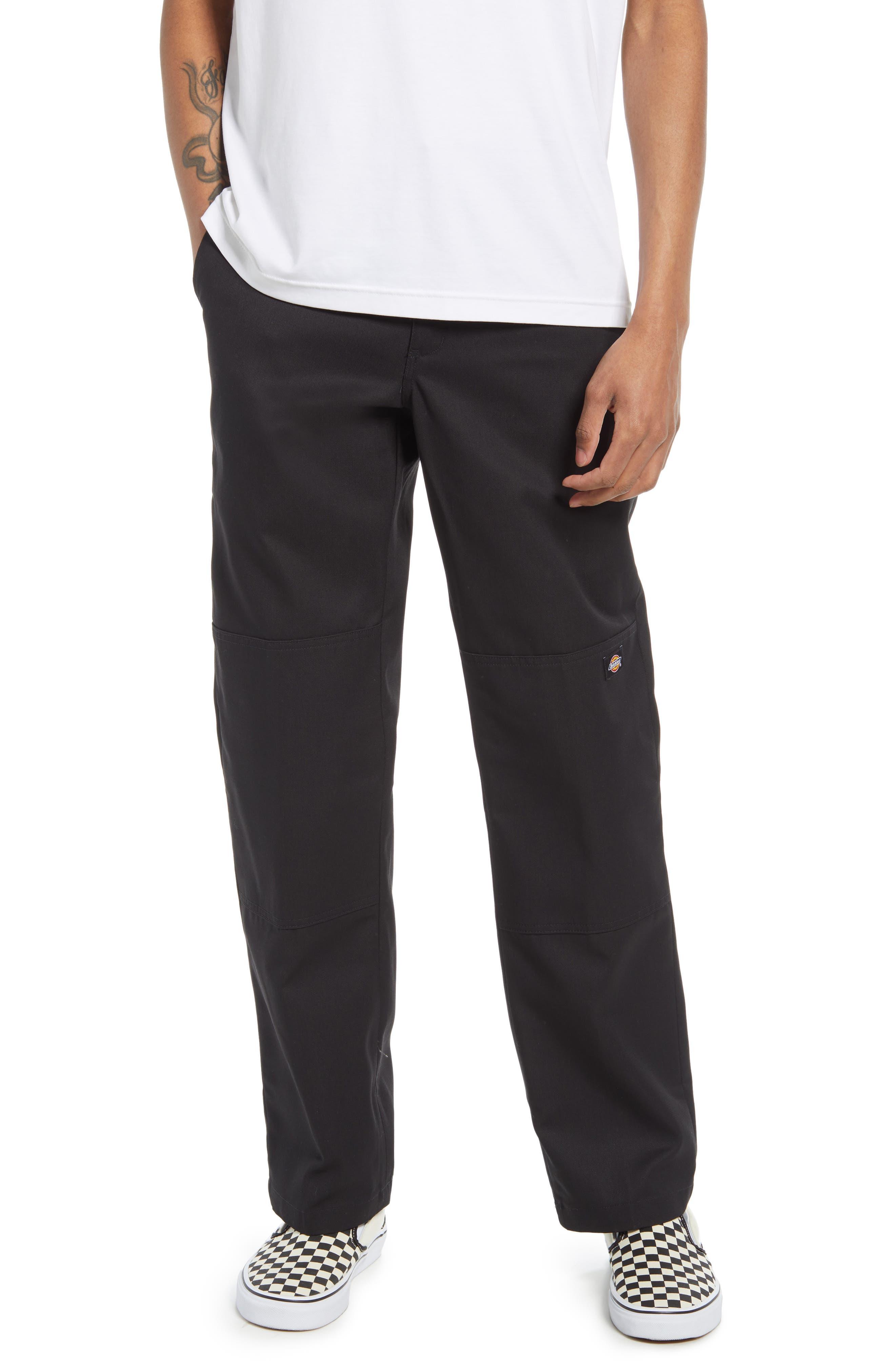 Men's Flat Front Double Knee Pants