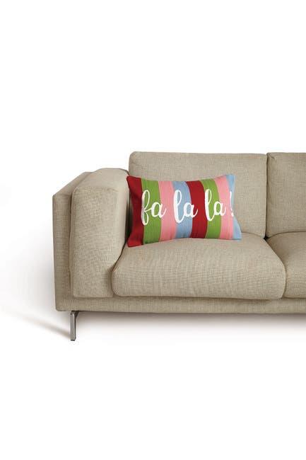 Image of Peking Handicraft Multi Fa La La Crewel Embroidered Pillow