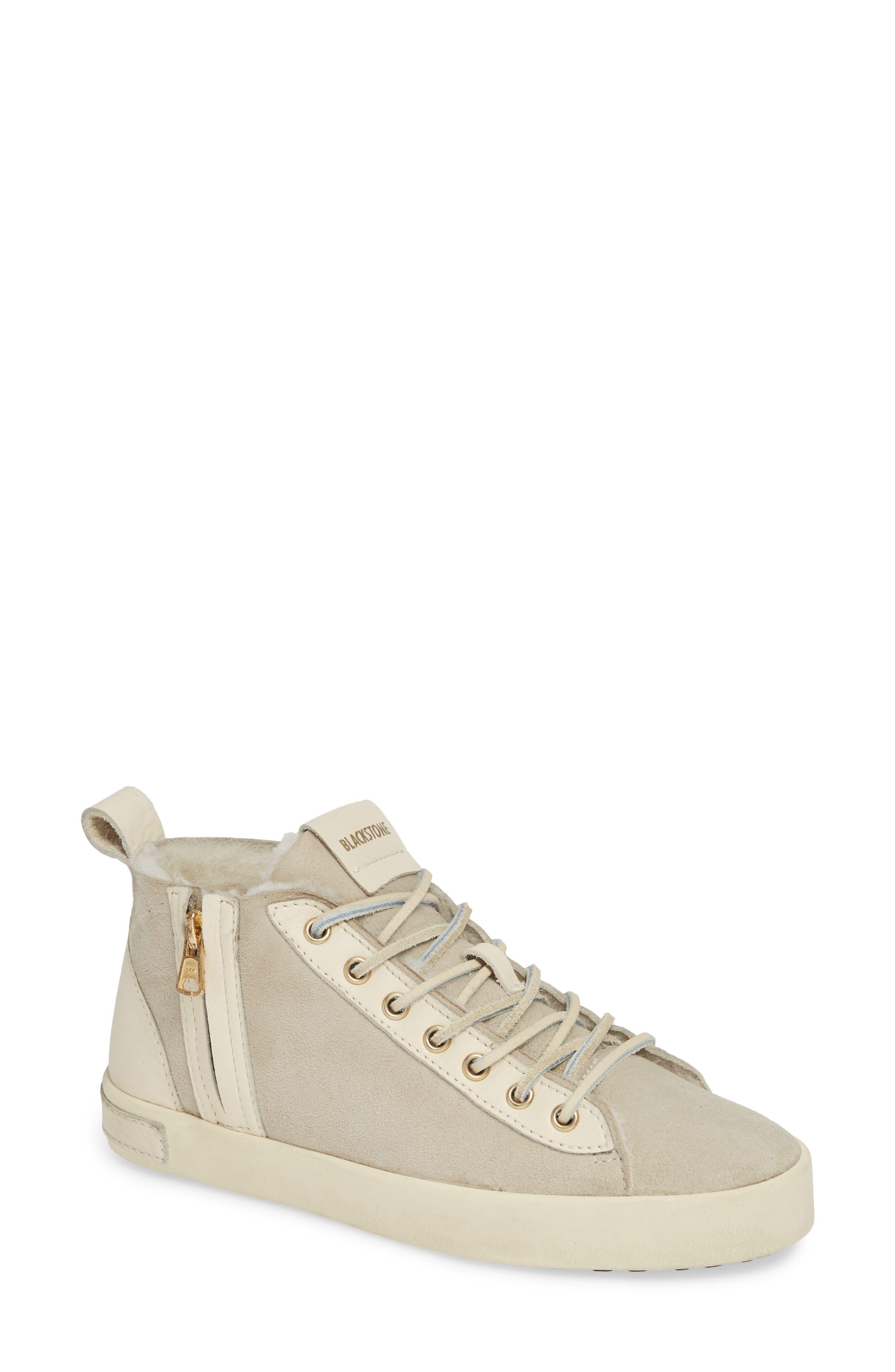 Blackstone Ql47 Genuine Shearling Lined Sneaker, Grey