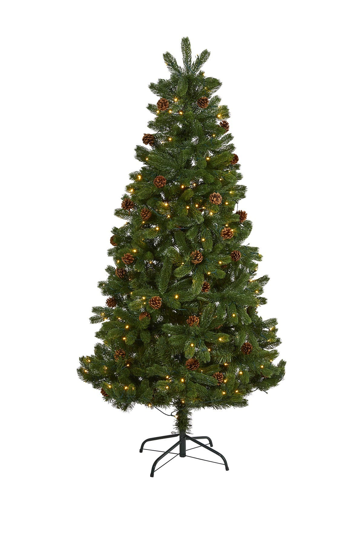 Image of NEARLY NATURAL 6ft. Rock Mountain Spruce Artificial Christmas Tree