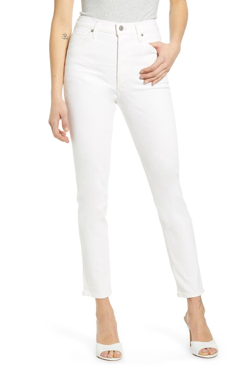 CITIZENS OF HUMANITY Olivia High Waist Slim Jeans, Main, color, ZEN