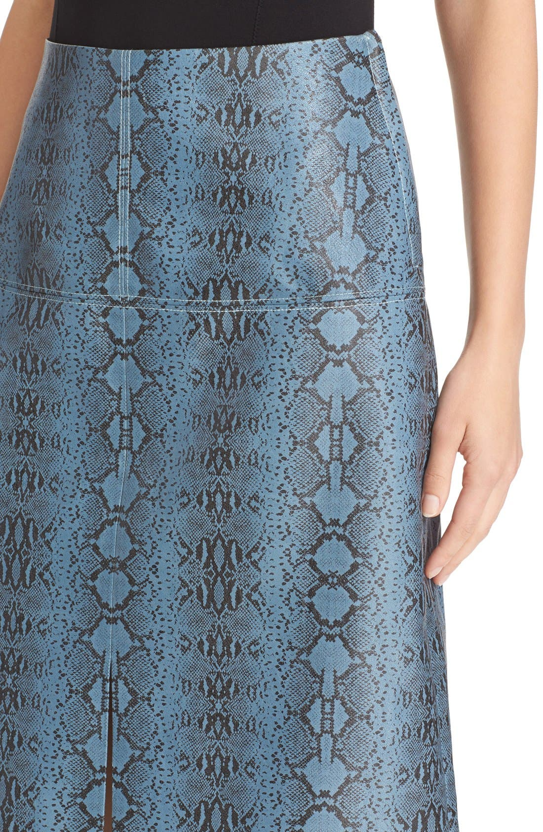 ,                             Snakeskin Print Skirt,                             Alternate thumbnail 4, color,                             494