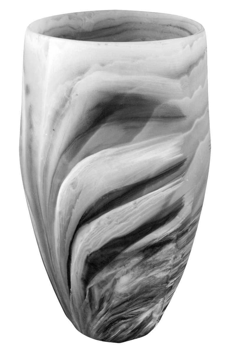 NASHI HOME Classical Vase, Main, color, BLACK SWIRL