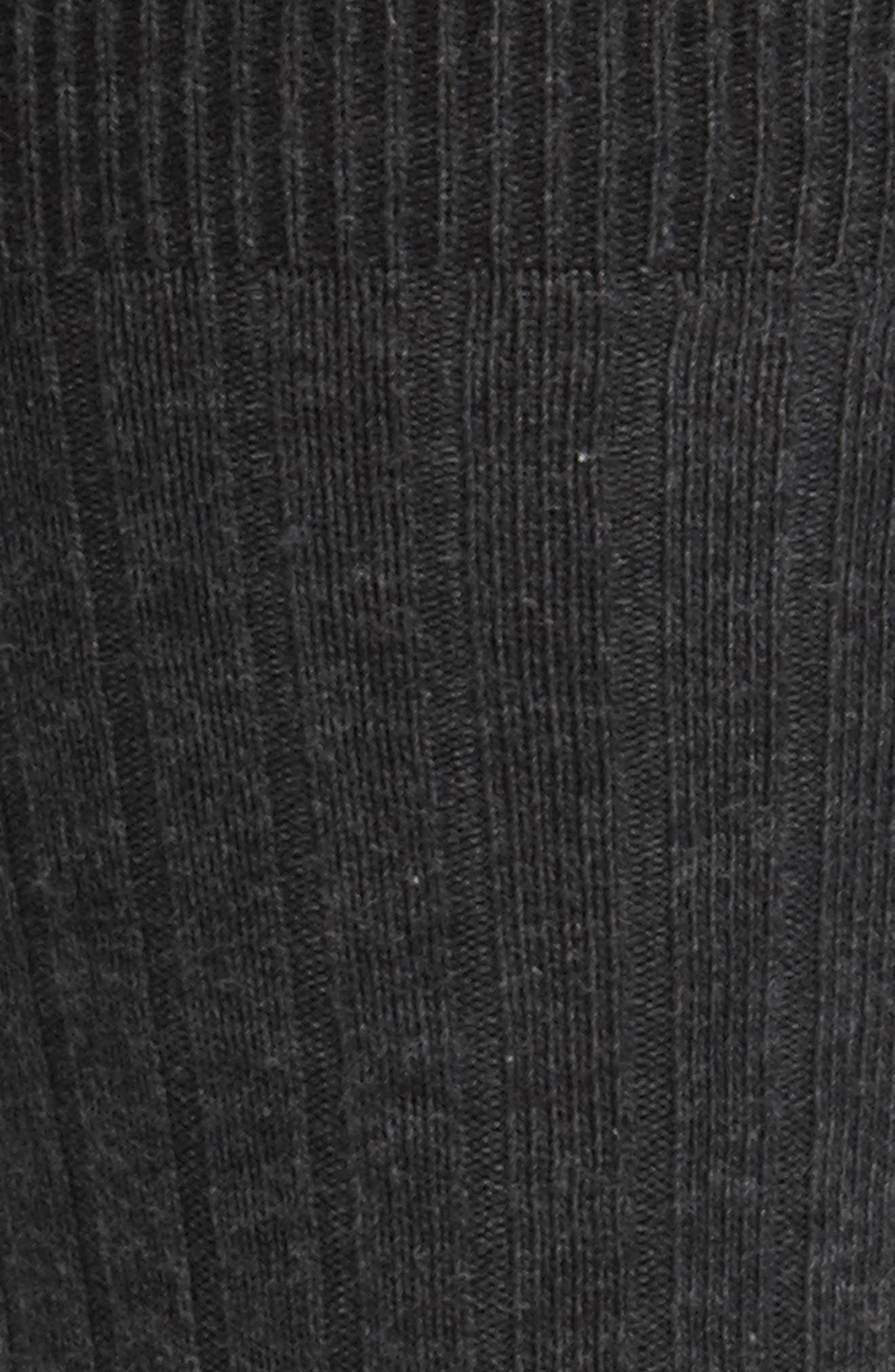 ,                             Cotton Blend Socks,                             Alternate thumbnail 2, color,                             BLACK HEATHER