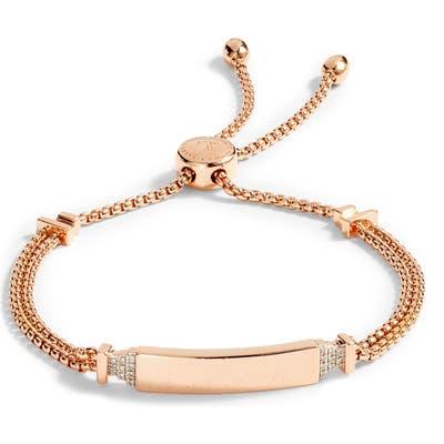 Monica Vinader Baja Deco Id Diamond Slide Bracelet