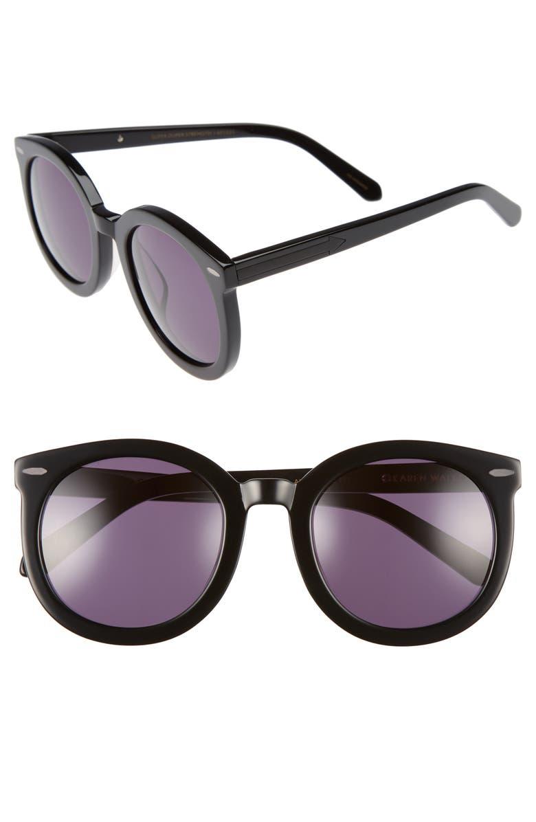 KAREN WALKER Alternative Fit Super Duper 59mm Sunglasses, Main, color, 001