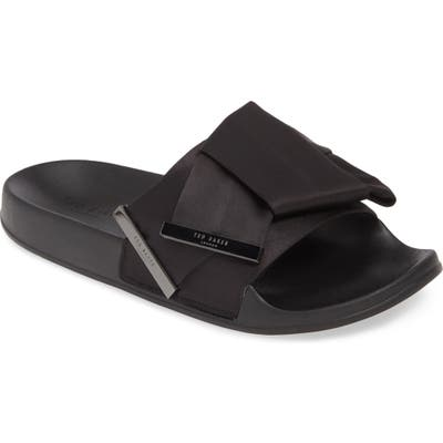 Ted Baker London Bleful Knotted Sport Slide, Black
