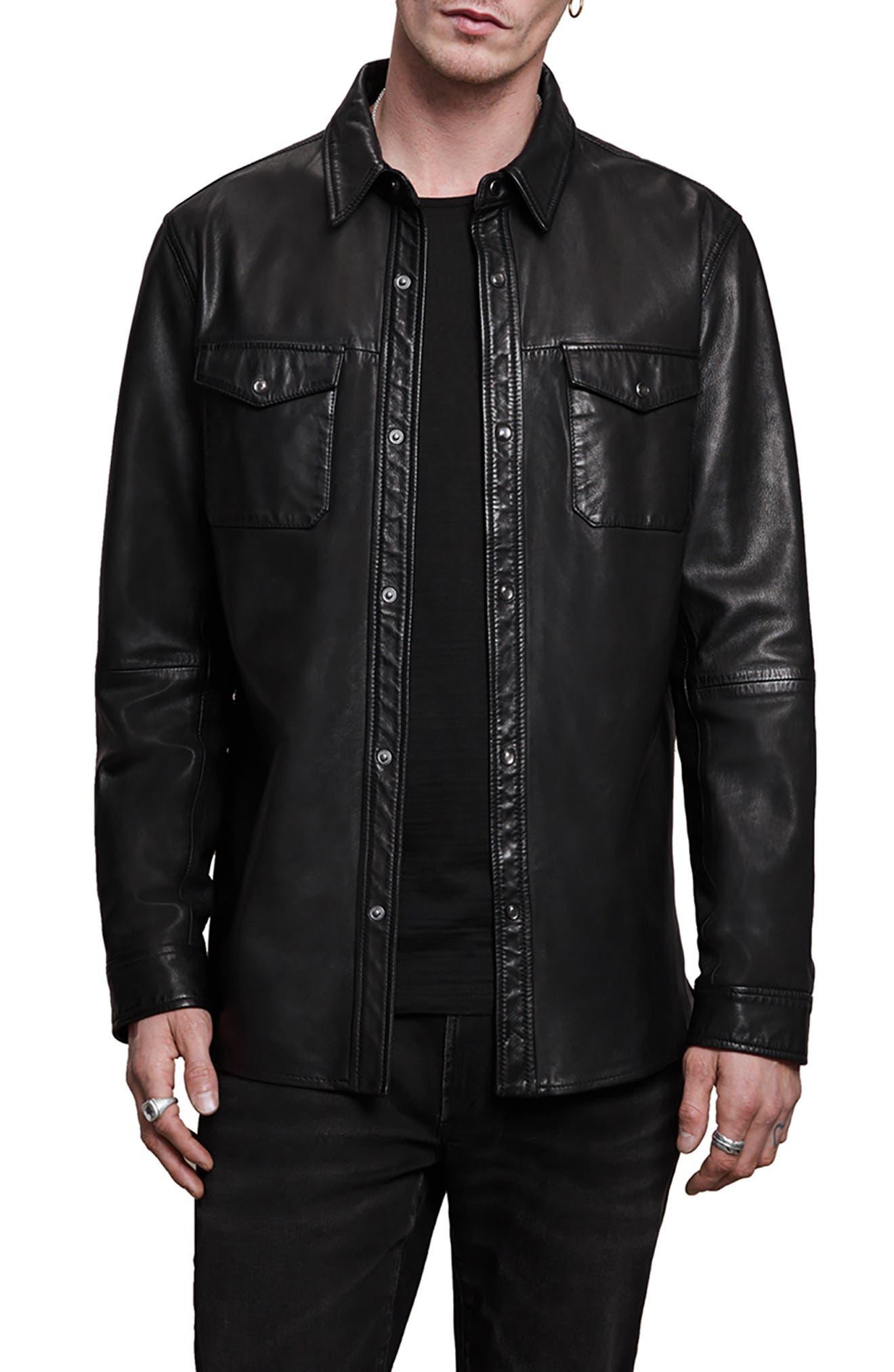 Lionel Leather Shirt Jacket