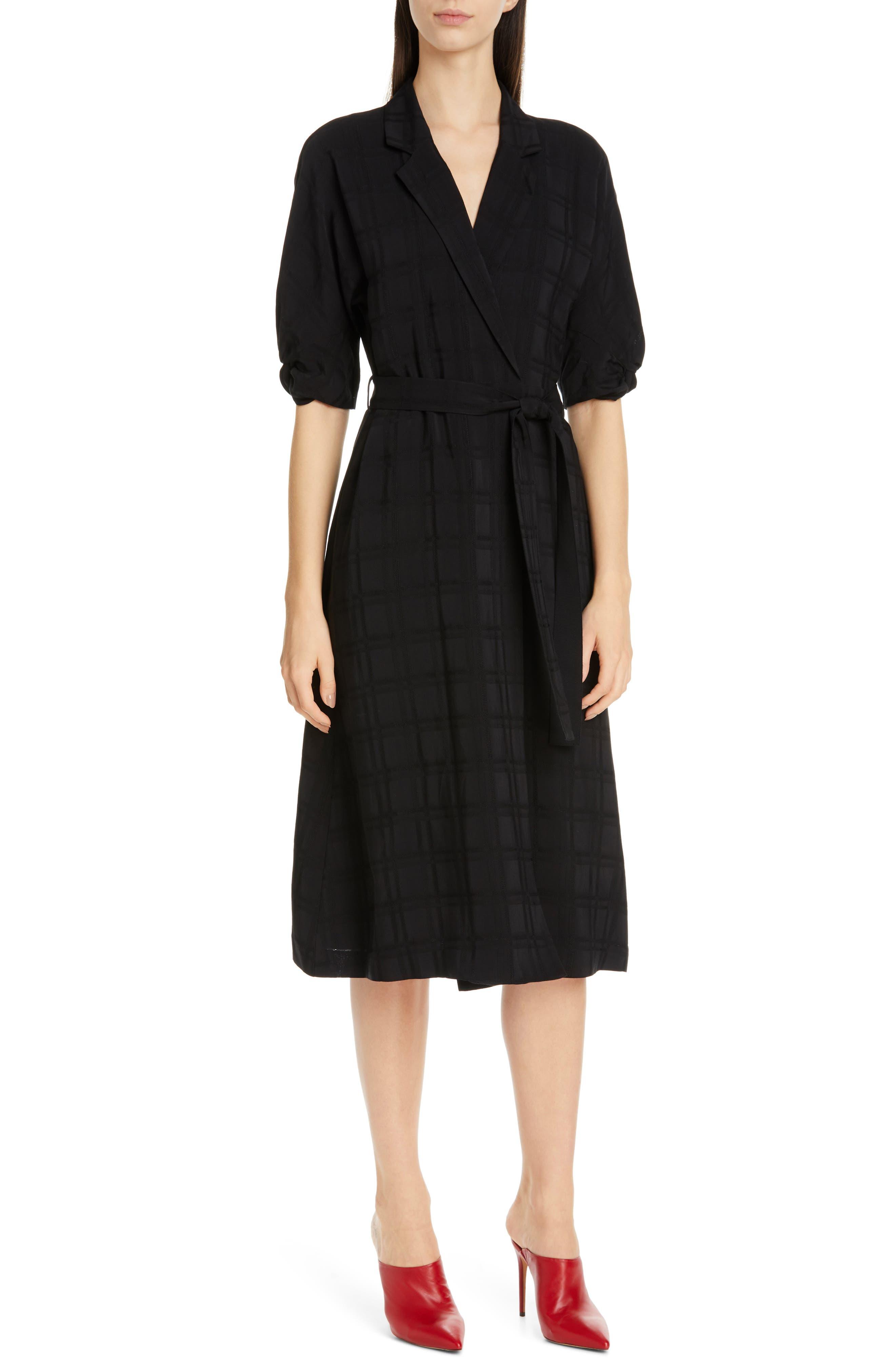 ,                             Anitone Faux Wrap Dress,                             Alternate thumbnail 6, color,                             TRUE BLACK MULTI