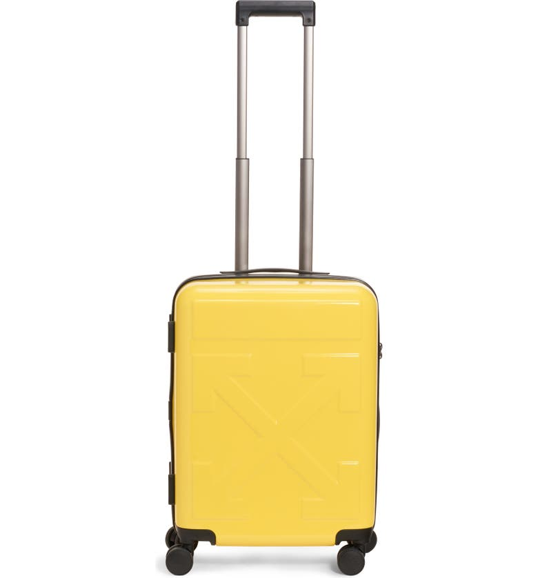 OFF-WHITE Arrow Hard Side Trolley Wheeled Suitcase, Main, color, YELLOW