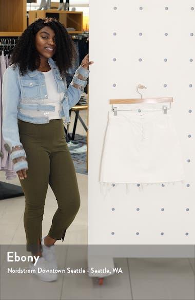 Aideen Distressed Denim Miniskirt, sales video thumbnail
