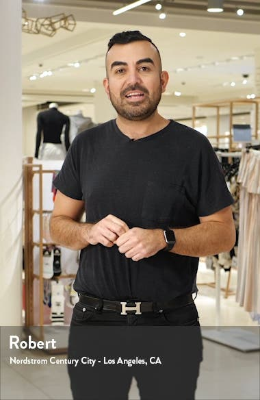 Bolt Slim Fit Leather Biker Jacket, sales video thumbnail